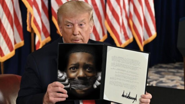 Trump Signs Executive Order To Silence Black Voices Permanently