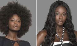 Pro Black women wearing straight hair weave