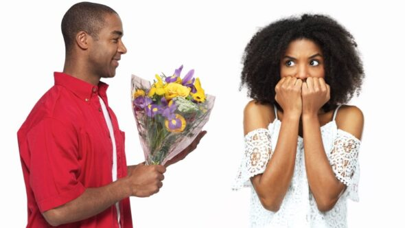 fear of love and relationships. woman afraid of love and getting into a relationships. Fear of trusting & getting hurt in relationships with a man.